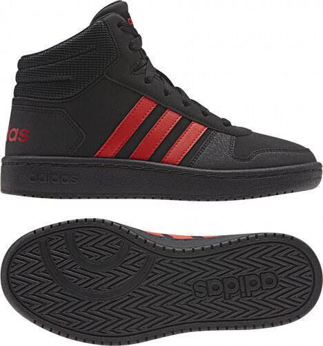 -50% Dětské kotníkové boty adidas Performance HOOPS MID 2.0 K (Černá    Červená) 50994172d8