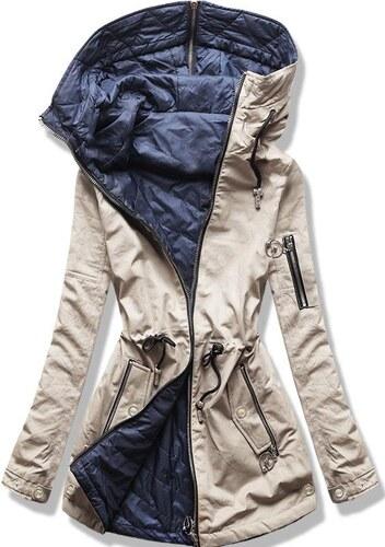 1d09f908e9 Butikmoda Bézs és kék színű kifordítható parka kabát - Glami.hu