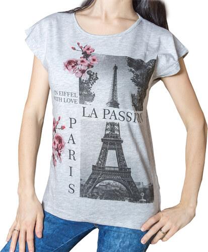 1d3aa080be12 KAFKAME Dámské tričko s potiskem - Paříž Eiffelova věž - Glami.cz