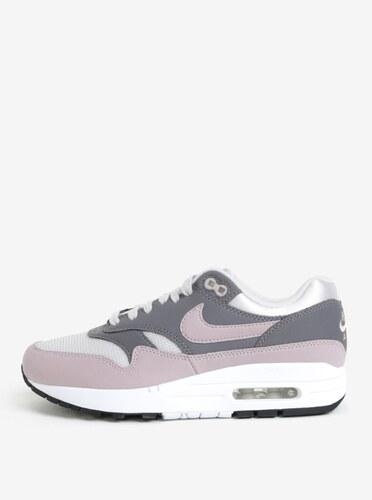 Šedo-růžové dámské tenisky Nike Air Max 1 - Glami.cz 5a7dff365a7
