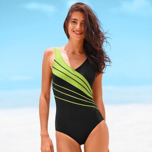 Blancheporte Jednodielne plavky čierna zelená - Glami.sk 600a5b47b9