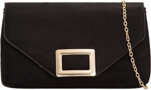 6a797b8eb9b4 ikabelky Dámska čierna listová kabelka s prackou K-L2098 - Glami.sk