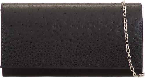 7daa0dd5e407 ikabelky Dámska elegantná listová kabelka K-H2120 čierna - Glami.sk