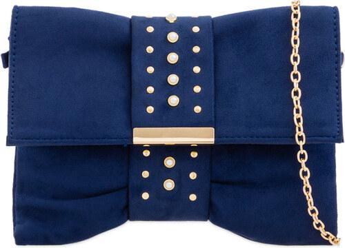 531a781699fb ikabelky Listová kabelka s ozdobným pásom K-L2289 tmavomodrá - Glami.sk