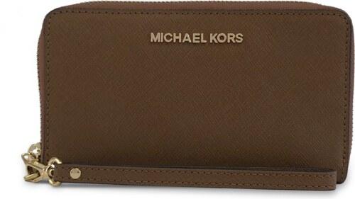 Michael Kors Peňaženka s priehradkou na smartphone hnedá - Glami.sk b50d90b7f3f