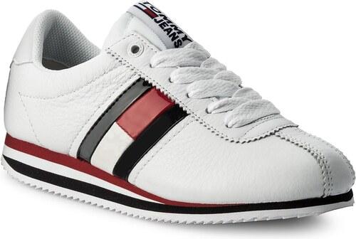 Sneakersy TOMMY HILFIGER - JEANS Tommy Jeans Retro Flag Sneaker EN0EN00133 White  100 e41bfd283e