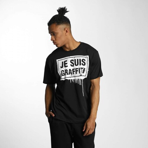 Dangerous DNGRS   T-Shirt Je Suis Graffiti in black - Glami.cz 912b1bb845