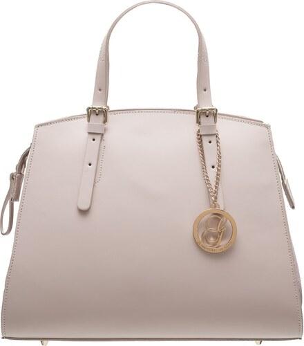 Glamorous by GLAM Dámska kožená kabelka kombináciám semiš - svetlo ružová a130bf20627