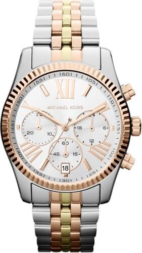 584f09c9ca Dámské hodinky ve stříbrné barvě s detaily v barvě růžového zlata Michael  Kors Lexington