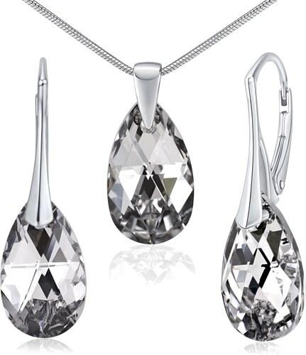 Swarovski(R) Crystal Stříbrných set šperků ve tvaru kapky se Swarovski  Crystals LSW181+ 1389bfb99a1
