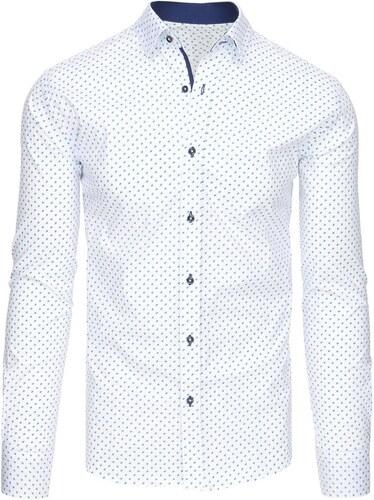 Dstreet Bílá košile se zajímavým vzorem - Glami.cz be839aa902