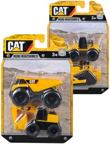 a83e8f7f36b Mix hračky CAT Auto stavební stroj Caterpillar set 2ks na kartě plast
