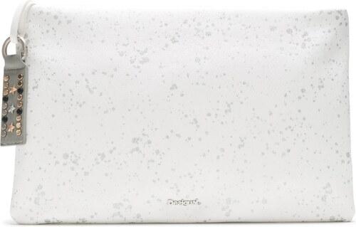 726ffe3184 Desigual biela listová kabelka Metallic Splatter - Glami.sk