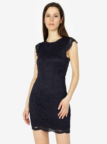 185f2dd72a37 Tmavomodré čipkované šaty VERO MODA Sandra - Glami.sk