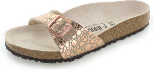 f0888f84c229 Birkenstock Dámské růžovozlaté pantofle Madrid BF - Glami.cz