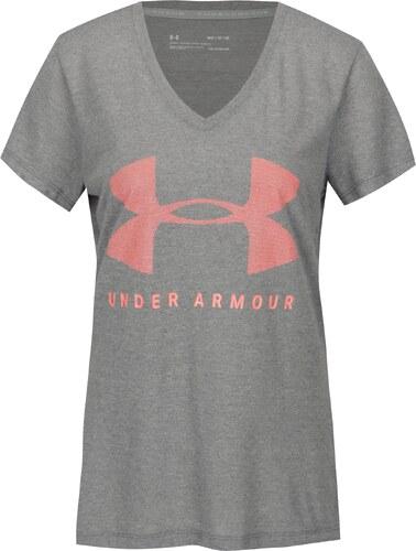 334a602c4 Šedé dámské funkční tričko s potiskem Under Armour Siro Graphic ...