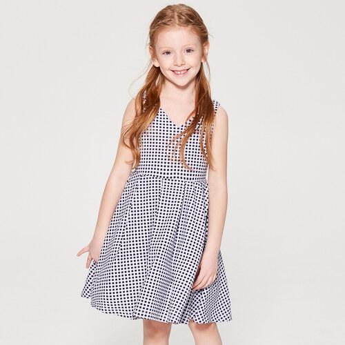 1744514337c6 Mohito - Dívčí kostkované šaty Little Princess - Bílá - Glami.cz