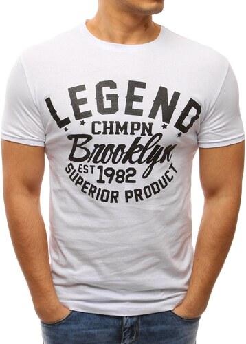 Dstreet Moderní bílé tričko LEGEND - Glami.cz c5acc77d3c