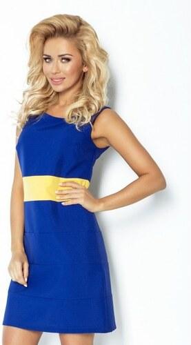 Dámské šaty Numoco 102-2 modro-žluté - Glami.cz 82943cc42d