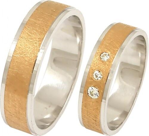 3b302ecd3 Zlaté svadobné obrúčky 2014045/BC - Glami.sk