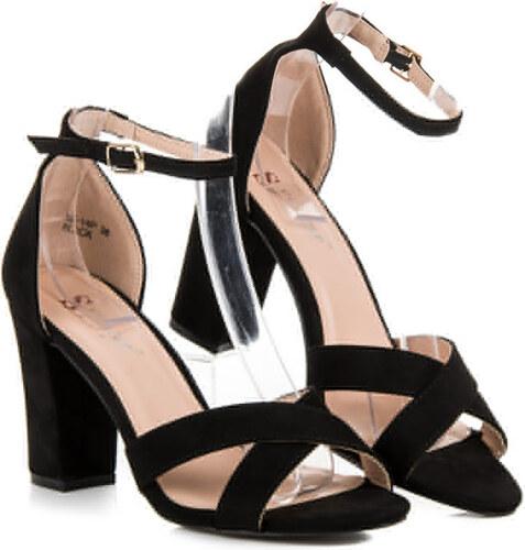 b0570f0663437 SEASTAR Elegantné čierne sandále na podpätku - Glami.sk
