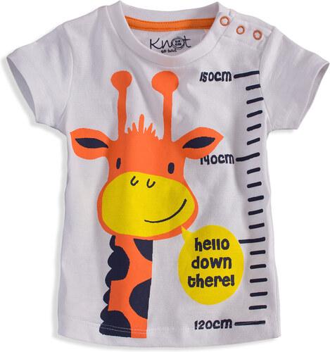 9bd0dca55cb6 Detské tričko s krátkym rukávom KNOT SO BAD ŽIRAFA biele - Glami.sk