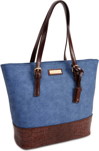Dámska kabelka DOCA 13473 - modrá - Glami.sk c0fef90df16