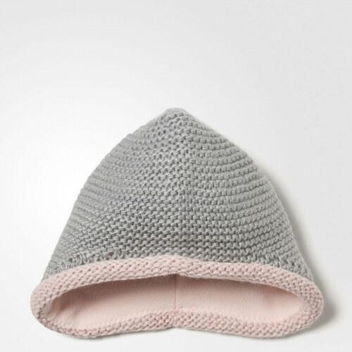 7cf48626822 Dívčí čepice adidas Performance INF KNIT BEANIE (Šedá   Růžová   Bílá)
