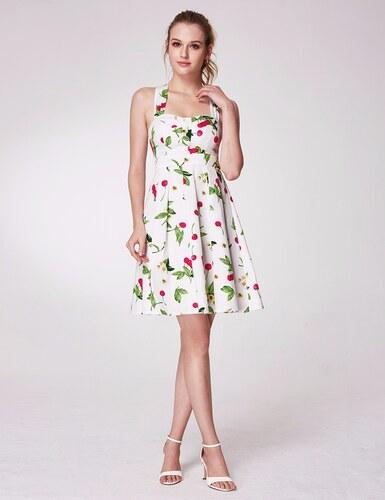 d9287b6371a Ever-Pretty Bílé letní šaty s třešněmi a srdíčkovým výstřihem - Glami.cz