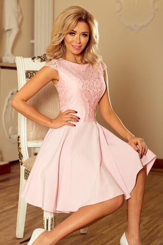 29763b03bfc9 Strikingstyle 157-4 Spoločenské šaty numoco   pastelovo ružové ...