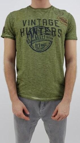c5144ab44d DEVERGO Devergo pánské triko s nápisem krátký rukáv zelené XL - Glami.cz