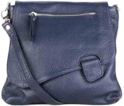 0b027c6029 Talianska kožená kabelka stredná crossbody Vera Pelle modrá Angola ...