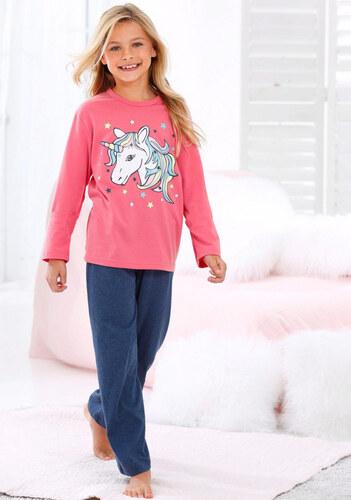 Arizona lányka pizsama hosszú nadrágos unikornis nyomásmintával ... 54a92e21c9