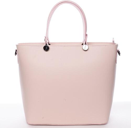 Delami Vera Pelle Růžová luxusní kožená velká kabelka Azra - Glami.cz 3b35813b852