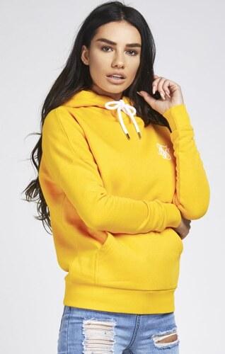 Dámska žltá mikina s kapucňou Sik Silk - Glami.sk 05bd09a9814