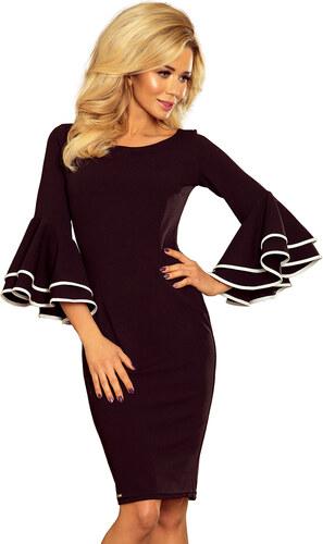 Numoco Dámské módní šaty CARMEN se španělskými rozšířenými rukávy ... bb5ac938ff