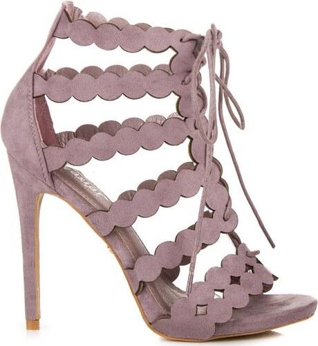 bdf62e2649 Fialové viazané sandálky - Glami.sk