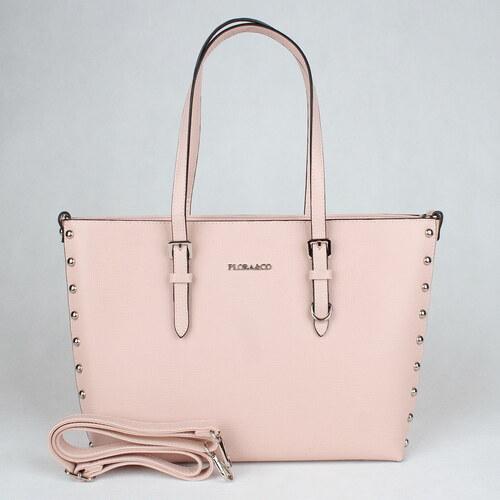 ee505dbef Růžová velká elegantní pevná kabelka na rameno FLORA&CO F6389 - Glami.cz