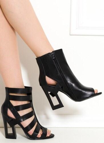 GLAM GLAMADISE shoes Dámské páskové sandály na podpatku černé - Glami.cz d327936416