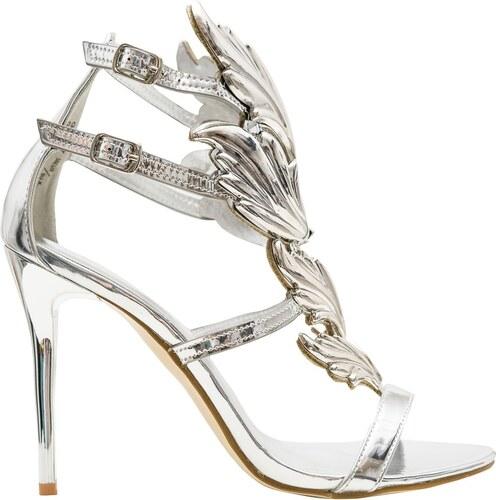 GLAM GLAMADISE shoes Dámské exkluzivní sandály stříbrné - Glami.cz 29303a1186