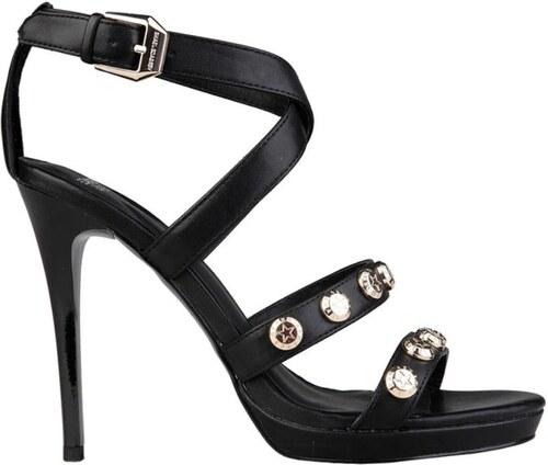 ece3f3fbf2f Versace jeans sandály na podpatku černé - Glami.cz
