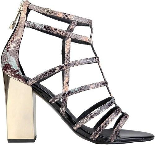 ce94978e45eb Versace jeans remienkové sandále na podpätku hadie - Glami.sk