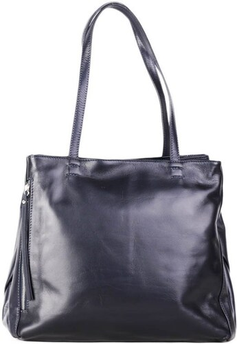 Talianske kožené luxusné kabelky cez plece modrá Vera Pelle Rozmari ... 1f1e6dcf7dd