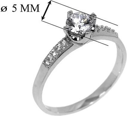 886219498 SWAROVSKI ELEMENTS SILVEGO Stříbrný zásnubní prsten Swarovski POESIS se  zirkony EWER03005 velikost 61