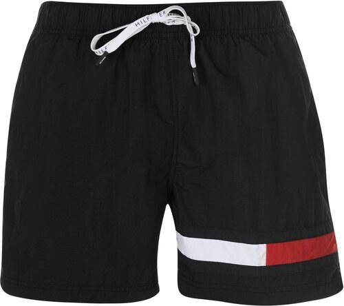 654e6b33b19 Tommy Hilfiger Flag Swim Shorts Black 735834 - Glami.cz