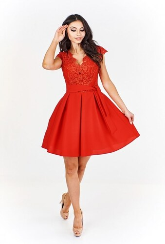 5b41f0883d70 Ptakmoda Elegantné červené šaty - Glami.sk