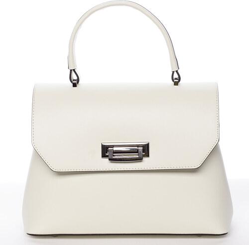 22ef0fd4b9 Originálna hladká krémová dámska kabelka do ruky - ItalY Neola krémová