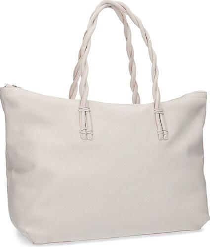 Baťa Bílá kožená kabelka s propletenými uchy - Glami.cz 2f998517dc2