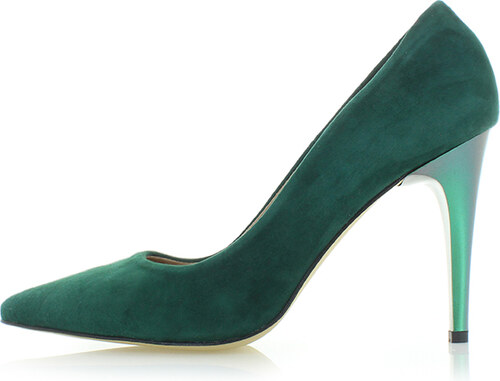 34c746eda0c6 Olivia Shoes Tmavě zelené kožené lodičky Sloane - Glami.cz