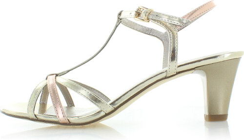 5e18f2cb6 Tamaris Zlaté sandále 28329 - Glami.sk